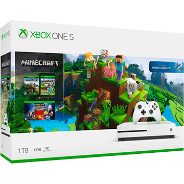 Xbox One S + Minecraft Story Mode: The Complete Adventure + Minecraft Explorer's Pack for just $249.99