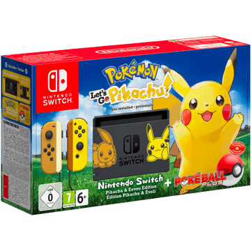 Nintendo Switch Switch + Pokemon Let's Go Pikachu! + Nintendo Switch Poké Ball Plus for just $399.99