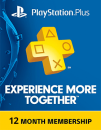 12 Months Playstation Plus