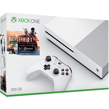 Xbox One + Battlefield 1 + For Honor + Wireless Controller: White