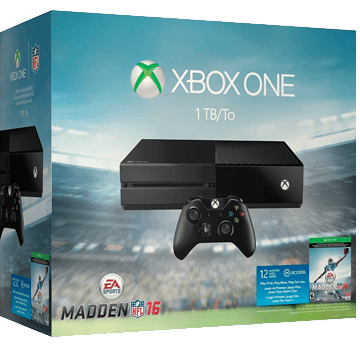 Xbox One Standard + Madden NFL 16 for just $325.00