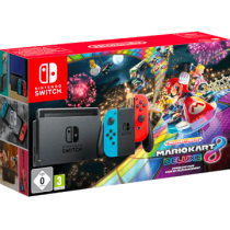 Neon Blue / Red Nintendo Switch 32GB + Mario Kart 8 Deluxe from amazon.com for $374.95