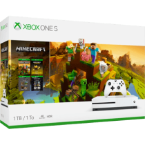 White Xbox One S 1TB + Minecraft from amazon.com for $221.87