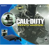 Black PS4 Slim 500GB + Call of Duty: Infinite Warfare and Call of Duty: Modern Warfare Remastered from GameStop for $203.97