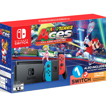 Nintendo Switch Switch + 1-2-Switch + Mario Tennis Aces for just $369.98