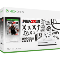 White Xbox One S 1TB + NBA 2K19 from ebay - Rush Hour for $199.99