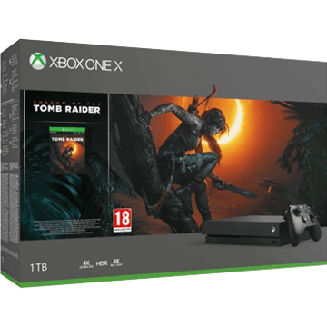 Xbox One X + Gears Of War 4 + Shadow of the Tomb Raider for just $499.00
