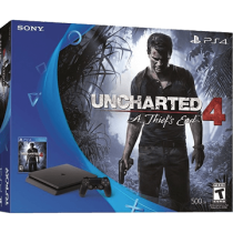 Black PS4 Slim 500GB + Bloodborne, Titanfall 2 and Uncharted 4: A Thief's End from Walmart for $349.99