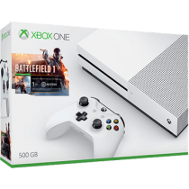 Green Xbox One S 500GB + 1 Month EA Access and Battlefield 1 from amazon.com for $214.84