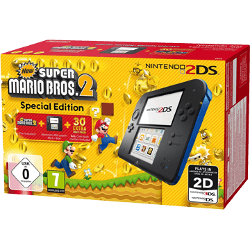 Nintendo 2DS 2DS + New Super Mario Bros. 2 + Sonic All-Stars Racing Transformed for just $175.99