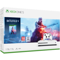 White Xbox One S 1TB + Battlefield V and Echo Dot (3rd Generation) - Charcoal from amazon.com for $279.98