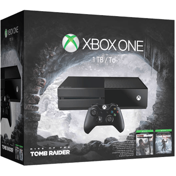 Xbox One Standard + Tomb Raider: Definitive Edition + Rise of the Tomb Raider for just $399.00